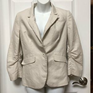 The Limited Ruched Sleeved Blazer